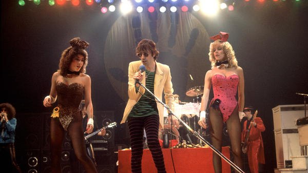 The J Geils Band celebrates the release of its single 'Centerfold' at the Uptown Theater in Chicago, Ill. on November 19, 1981.