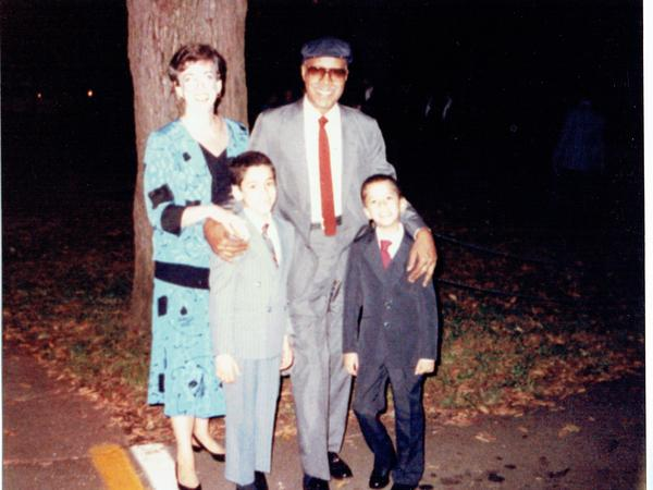 Martin Sostre with his wife, Liz, and their sons Mark (left) and Vinny (right).