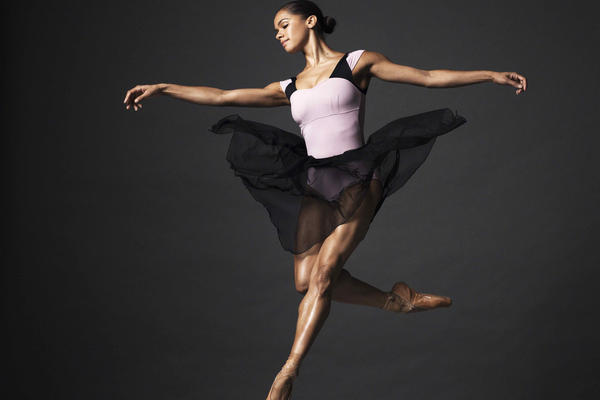 "Ballerina Misty Copeland, in a promotional image for her new book, ""Ballerina Body."" (Henry Leutwyler/Grand Central Life &Style)"