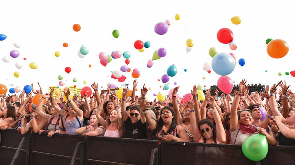 Even if you're not at Coachella this weekend, you can still break out the balloons.