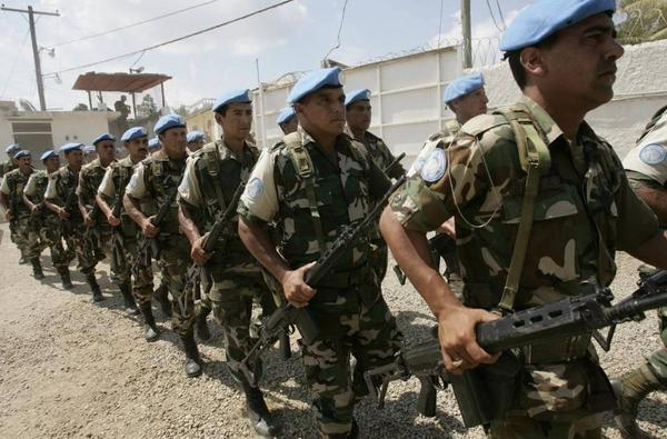 U.N. peacekeeping forces in Haiti in 2006.