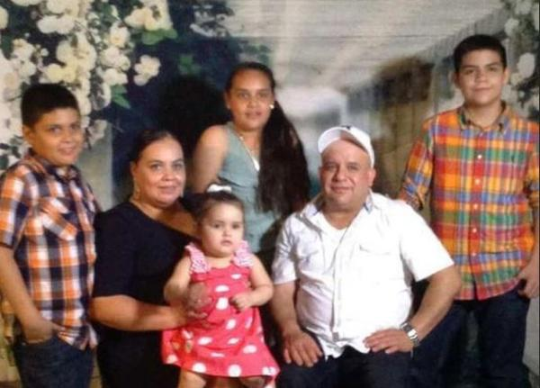 Maribel Trujillo Diaz with her husband and four children.