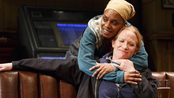 Michelle Wilson and Johanna Day star in <em>Sweat</em>, the Pulitzer Prize-winning play by Lynn Nottage.