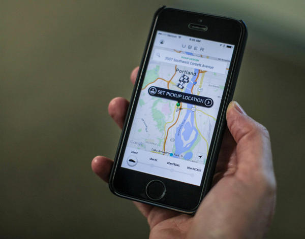 <p>People can summon drivers from ride services like Uber through smartphoneapps.</p>