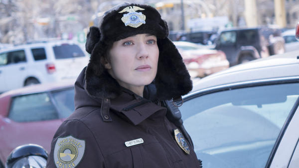 Carrie Coon plays Gloria Burgle in the third season of the series <em>Fargo</em>, which premiers on FX Wednesday.