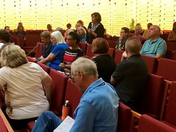 About 80 people, many of whom are directly involved in the fight against food insecurity in Polk County attended the town hall. A number of attendees shared their questions and comments with us during the Q&A portion of the show.