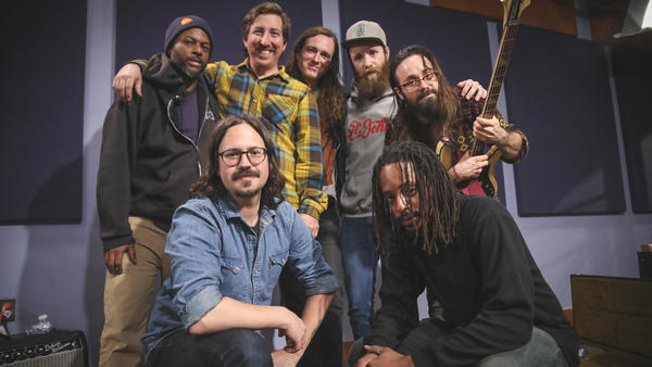 Black Joe Lewis & The Honeybears in the <em>World Cafe</em> performance studio.