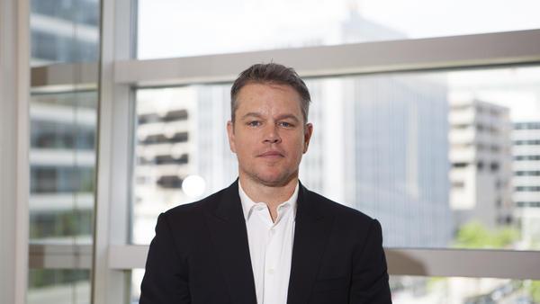 Matt Damon at the World Bank in Washington.