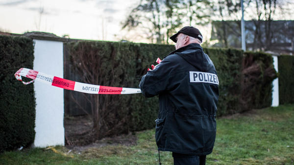 On Tuesday, police investigators work on a reconstruction of the April 11 bombing of the Borussia Dortmund team bus in Dortmund, Germany. Three bombs detonated as the bus was pulling away from a nearby hotel.