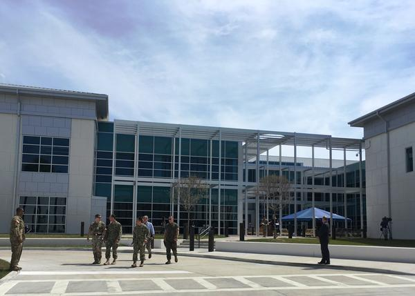 The Joint Special Operations University has an airy, open feel to it, but inside security is tight.