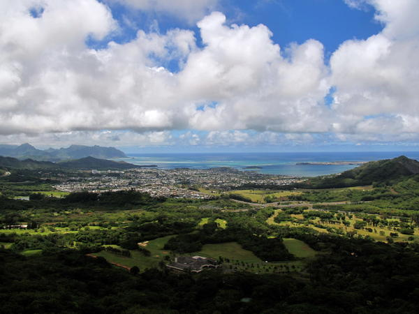 An island in the Pacific: Kaneohe, Oahu, in 2010.