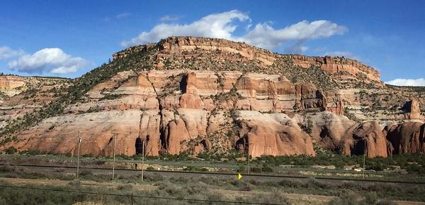 A mountain view in Arizona from resident chef Kathy Gunst's road trip. (Kathy Gunst for Here & Now)