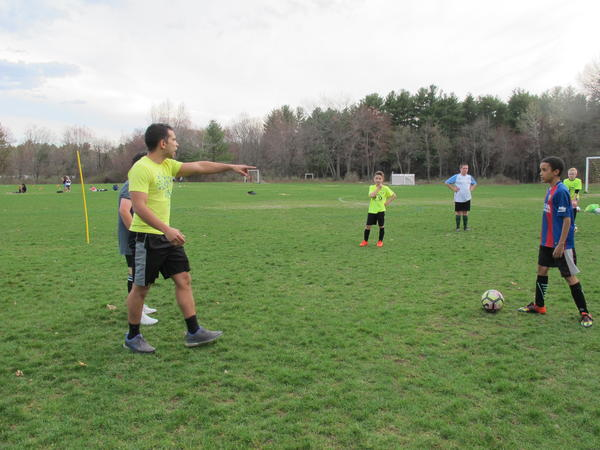 Jared Barbosa, coaches LHIFA's U-12 team.
