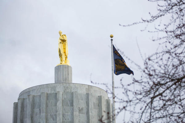 <p>The Oregon State Capitol in Salem, Oregon, March 18, 2017.</p>