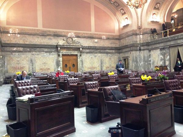 Only four Washington state Senators were on hand as a special session was gaveled to order on Monday morning. Lawmakers have the next 30 days to find agreement on a budget and school funding or go into a second special session.