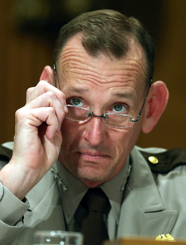 Randolph Alles, formerly of Customs and Border Protection, is President Trump's choice to lead the Secret Service. He testified during a Senate Homeland Security hearing in 2013.