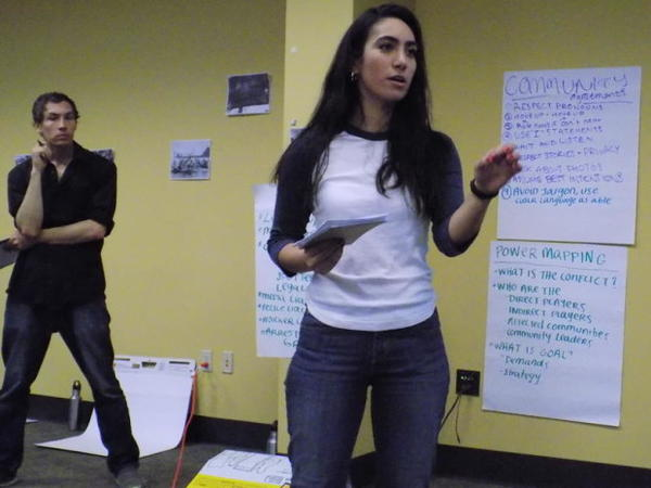 "<p>""Direct action"" trainers Alec Connon (L) and Ximena Velazquez-Arenas (R).</p>"