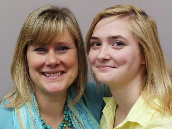 Kate Musick (left) taught Harlee Patrick in elementary school in Gloucester, Va.