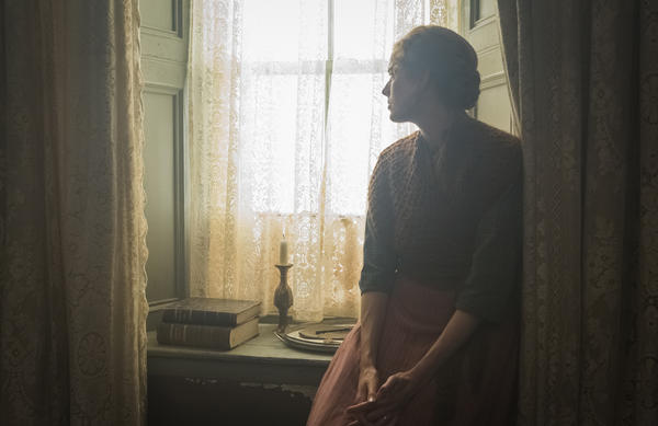 """""""I've always been fascinated ... by people at a window with light falling in on them,"""" Davies says. Pictured: Agyness Deyn in <em>Sunset Song</em>."""