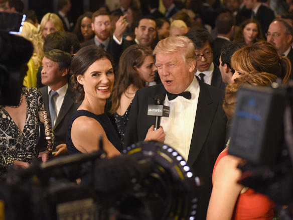 Donald Trump at the 101st Annual White House Correspondents' Association Dinner in 2015. He says he will not attend this year.