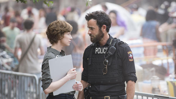 Carrie Coon and Justin Theroux star in season three of <em>The Leftovers.</em>