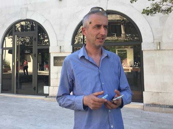 """Sreten Zujovic, who installs alarm systems, says he will never forgive NATO for bombing Montenegro during the Kosovo in 1999, when it was in union with Serbia. """"I don't trust the Russians either,"""" he says. """"I want us to be free."""""""
