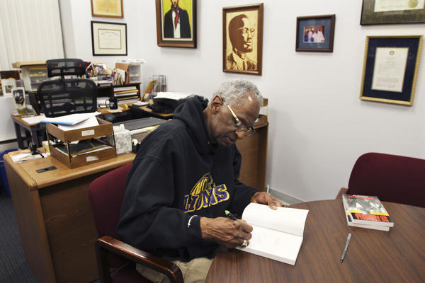Howard Fuller in his Marquette University office.