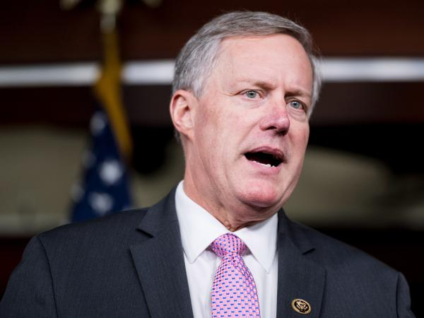 Rep. Mark Meadows, R-N.C., chair of the House Freedom Caucus, speaks during a news conference in February on Affordable Care Act replacement legislation.