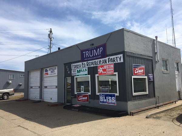 The GOP campaign headquarters for Itasca County, Minn., once was a place to go for oil changes. Now, it awaits its next life. Trump easily carried the county that former President Obama won twice.