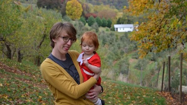 "Haley DeRoche, 30, is a public librarian in Richmond, Va. As a homeschooled teenage girl, DeRoche says <em>Brio </em>was a ""wholesome"" magazine she could read without fear of offending her evangelical parents. She's pictured here in 2015 with her daughter, Winnie."