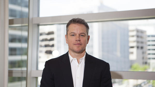 Matt Damon at the World Bank in Washington.