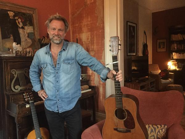 Anders Osborne at his home studio. The New Orleans bluesman is launching a program to help musicians and others in the industry stay sober in a work environment where that can be difficult.