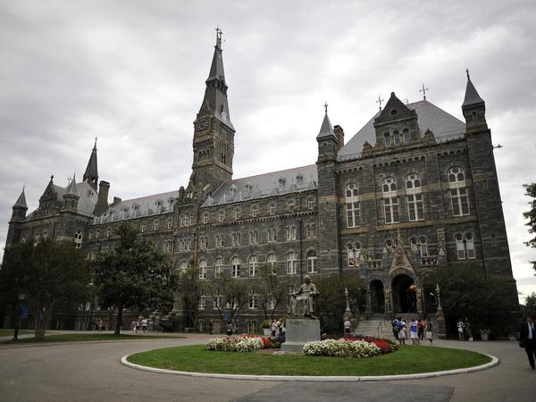Healy Hall, the flagship building of Georgetown University's main campus in Washington, DC.