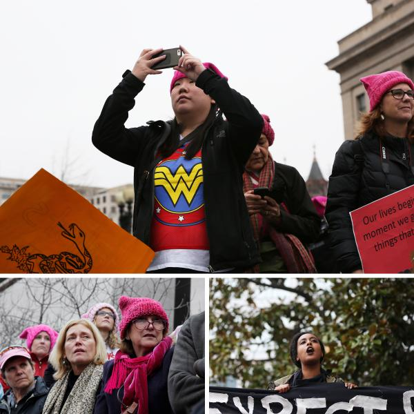 Scenes from the Women's March on Washington on Jan. 21.