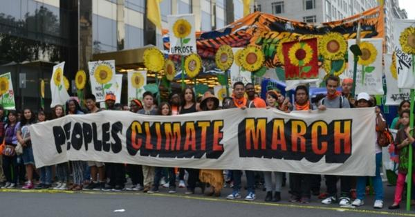 The People's Climate March in New York in 2014