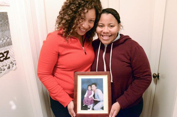 Pauline Massy (left) attended a crowded public high school and wanted something more intimate for her daughter, Kayla Massy-Charles. Kayla's now a junior at a small, Catholic school.
