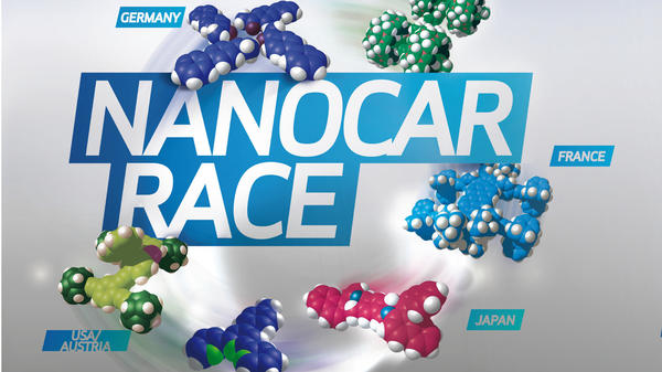 "The Nanocar Race, which happened over the weekend at Le centre national de la recherché scientific in Toulouse, France, was billed as the ""first-ever race of molecule-cars."""