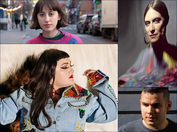 Clockwise from upper left: Frankie Cosmos, Feist, Rostam, Beth Ditto