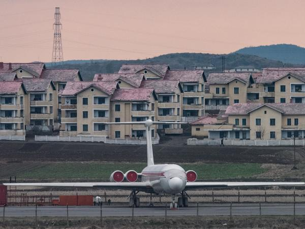 Last month, North Korean authorities detained Tony Kim, an American accounting instructor, at Pyongyang's airport. Above, a plane sits at the Pyongyang airport on April 17.
