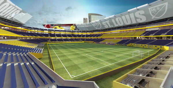 Artist rendering of now-scuttled soccer stadium proposal