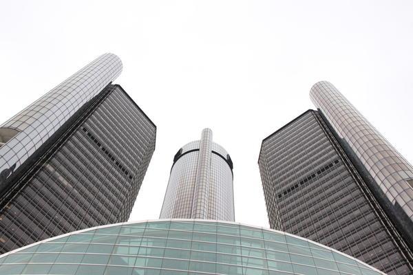 General Motors headquarters in Detroit.