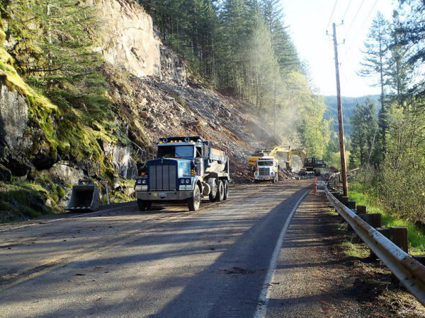 <p>A massive landslide closed a stretch of Washington Highway 503 for weeks.</p>