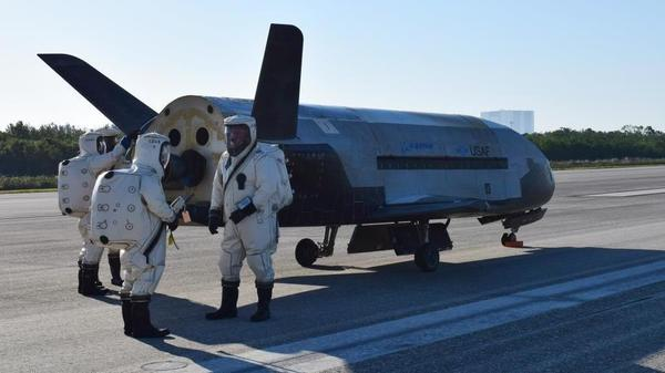 The Air Force's secret X-37B Orbital Test Vehicle landed at NASA 's Kennedy Space Center Shuttle Landing Facility in Florida on Sunday, setting off a sonic boom that surprised residents.