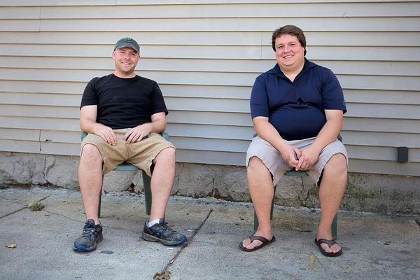 Stone & Skillet co-founders Dan Crothers, left, and Kyle Meekins, in a 2015 file photo. (Jesse Costa/WBUR)