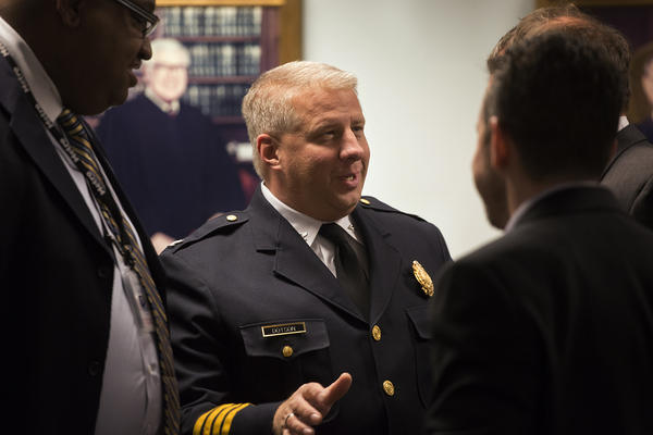 With the retirement of Chief Sam Dotson, shown in a March 2017 file photo, St. Louis will conduct its first national search for a new chief since the city gained control of the police from the state in 2013.