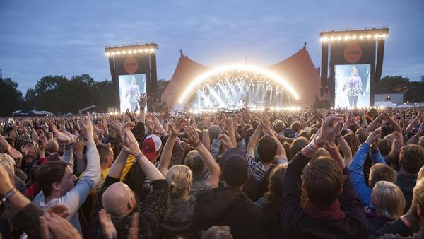 Fans at Denmark's 2014 Roskilde Music Festival wonder why no one is collecting their urine for use in beer production.
