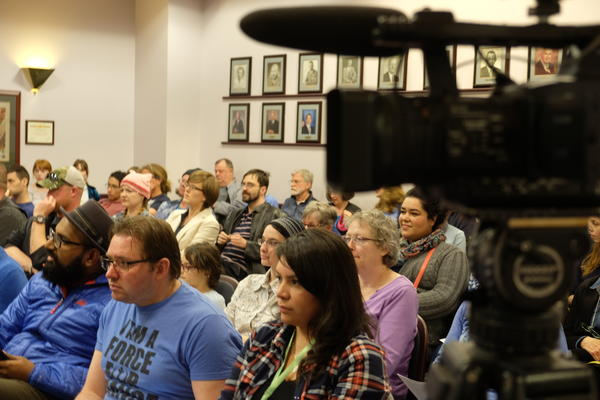 Advocates pack Richland's city hall recently to ask the council to adopt an inclusiveness statement to reaffirm the city's commitment to supporting minorities.