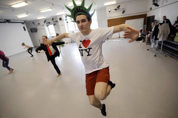 German studies major William Keiser rehearses for Princeton University Ballet's revival of Cole Porter's <em>Within the Quota</em>.
