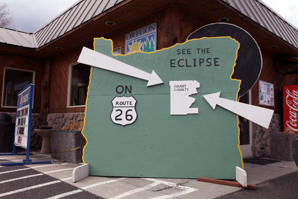 <p>Nearby Grant County has turned its Chamber of Commerce in John Day into an eclipse clearing house.</p>