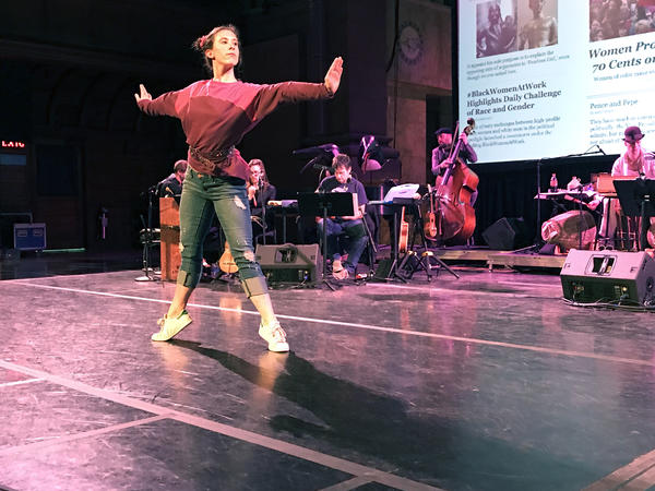 Student Julia Jansen choreographed the Princeton production of <em>Within the Quota</em> and also performs in it<em>.</em>